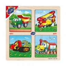 Ahşap Eğitici 4'lü Puzzle 30x30