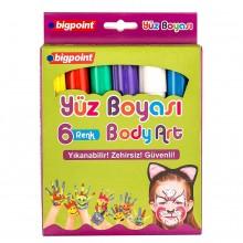 Bigpoint Yüz Boyası(Body Art) 6 Renk