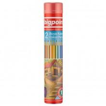 Bigpoint Metal Tüpde Kuru Boya Kalemi 12 Renk